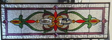 Stained Glass window Transom or Sidelight hanging 34 1/4 X 12 1/2