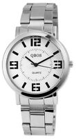 Herrenuhr Weiß Silber Analog Quarz Metall Modisch Armbanduhr D-3022200002375