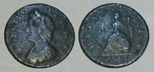☆ REMARKABLE !! ☆ 1733 KING GEORGE II COLONIAL COIN !! ☆ VERY GOOD !!
