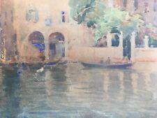 Belle Peinture Aquarelle Venise Italie Signé Casimir Raymond Début XXe Canal