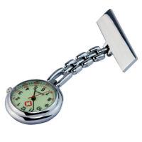 Women Men Clip-on Brooch Pendant Necklace Nurse Doctor Quartz Pocket Watch zxc