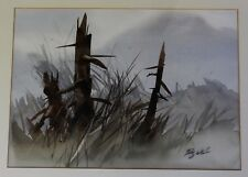 "ZOLTAN SZABO (1928-2003) RARE ORIGINAL WATERCOLOR ""FOREST LANDSCAPE""  BOOK AUTH"