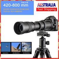 Camera Super Telephoto Zoom Lens F/8.3-16 420-800mm T Mount For Canon Nikon I5X9