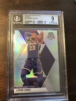 2019-20 Panini Mosaic Lebron James #8 Silver Prizm BGS 9 Mint .5 Away Lakers