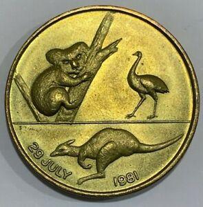 1981 Australia Royal Wedding Medal 32 mm