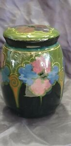 Antique high glazed  ,Gouda, ginger pot with lid !!