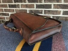 RARE VINTAGE 1970's HANDMADE COGNAC BASEBALL GLOVE LEATHER BRIEFCASE BAG R$998