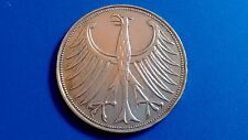 Moneda de plata alemania 5 marcos de plata-año 1963-D.