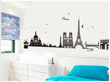 Paris Skyline Removable Vinyl Wall Stickers Home Decor Art Decal Mural France