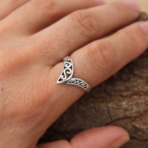 925 Sterling Filigree Silver Wishbone Ring Plain Pure