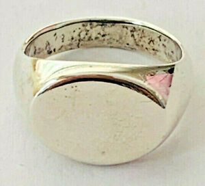 Size 7 Oval Engravable Plain Band Ring 925 Sterling Silver