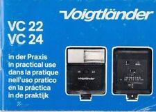 VOIGTLÄNDER - VC 22 VC 24 - Bedienungsanleitung Manual für Blitzgerät - B3709