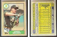 Jerry Willard Signed 1987 Topps #137 Card Oakland Athletics Auto Autograph