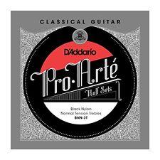 D'Addario BNN-3T Pro-Arte Black Nylon Classical Guitar Half Set, Normal Tension