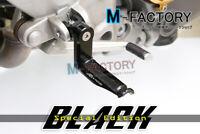 Black Shinobi Adjustable Rider Footpegs 40mm For Suzuki GSX 1300R Hayabusa 08-13