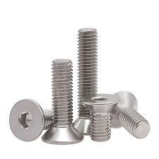 Countersunk Bolt Socket Bolts Allen Key A2 Stainless Steel M2.5 M3 M4 M5 M6 M8