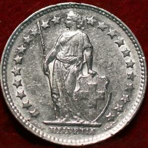 1953 Switzerland 1/2 Franc Silver Foreign Coin