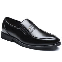 Men's Classic Formal Business Dress Shoes Comfortable Round Toe Slip On PU Shoes