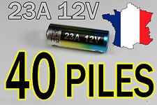 40 PILES 12V 60mAh 23A A23 23AE MN21 TELECOMMANDE PORTAIL ALARME COLLIER CHIEN