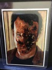 Fear The Walking Dead Sketch Card Zombie Tim Proctor Farbig mit Signatur  1/1