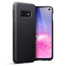 Samsung Galaxy S10e TPU Gel Silicone Rubber Thin Slim Cover Case in Matte Black