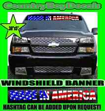 MADE IN AMERICA Windshield AMERICAN Vinyl DECAL Sticker DIESEL Truck USA Merica