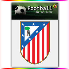 "Club Atletico de Madrid UEFA Die Cut Vinyl Sticker Car Bumper Window 4""x2.9"""