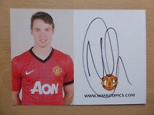 2012-13 Nick Powell Signed Man Utd Club Card (7420)