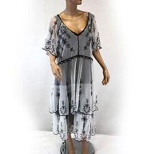 NEW NWT Nataya Plus Size Vintage Titanic Tea Party Black & Ivory Dress Set 2X