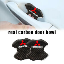 MITSUBISHI Real Carbon Anti Scratch Badge Door Handle Bowl Cover
