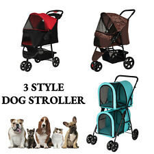Dog Cat Pet Jogging Stroller Folding Travel Carrier Cage Small Animal Supply