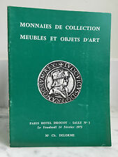 Catalogue de vente Monnaies de collection Meubles ... Salle n°1 14 Février 1975