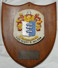 USS Henry B. Wilson DDG-7 US Navy Plaque Guided Missile Destroyer 1965-1967 Date