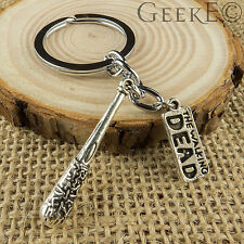 The Walking Dead Silver Negan Lucille Bat Keyring - UK Stock