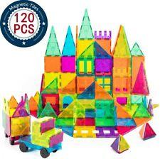 Cossy Kids Magnetic Block Set Toys 120 Pcs Magnet Building Tiles 3D - Fast Ship