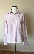 Women Classic Pink Pale Burberry Shirt Size M