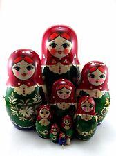 Nesting Dolls Russian Matryoshka Babushka Stacking Wooden Toys for Kids set 11