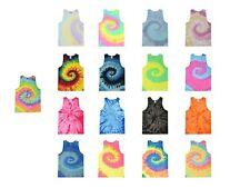 Multi-Color Tie Dye Tank Tops Sleeveless T-Shirts  Adult S to XXXL Cotton