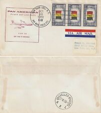US 1959 FAM 18 FIRST FLIGHT FLOWN COVER NEW YORK NY TO BRUSSELS BELGIUM
