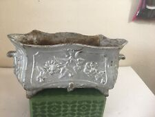French Antique Cast Iron Planter/Jardiniere/ Urn 14� Wide Preowned