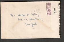 Canada Newfoundland Mar 1944 WWII PC90 DC/32 censor cover Grand Falls to NY