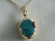 Clogau 18ct Gold 'Ar Dan' Black Opal & Diamond Pendant RRP £2,400.00