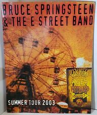 Bruce Springsteen and the E Street Band summer tour 2003 program