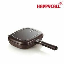 30cm Happy Call Jumbo Grill Double Side Fry Pan Titanium Coat Oven Cook Food_VU