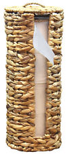 New Wicker Water Hyacinth Tall Toilet Tissue Paper Holder for 4 wide rolls
