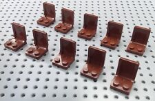 Lego Brown 2x2x2 Seat Mini Figure Vehicle (4079) x10 *BRAND NEW* City Friends