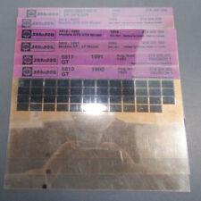 SeaDoo Microfiche Parts Manual Catalog Set 1990-1993 GT SP XP GTS GTX SPX SPI