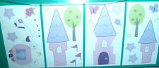 TIDDLIWINKS Princess Collection KIDS WALL DECALS STICKERS Castle Carriage ~ NIP