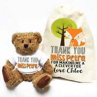 Teacher Appreciation Thank You Gift | Personalised Teddy Bear | Clever Fox