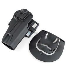 Quick Draw Tactical Right Hand Belt Holster w/ Paddle for Colt 1911 Black